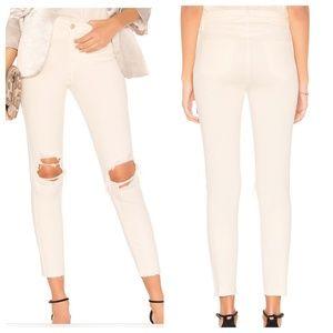 L'Agence Margot High Rise Skinny Jeans Raw Hem 26